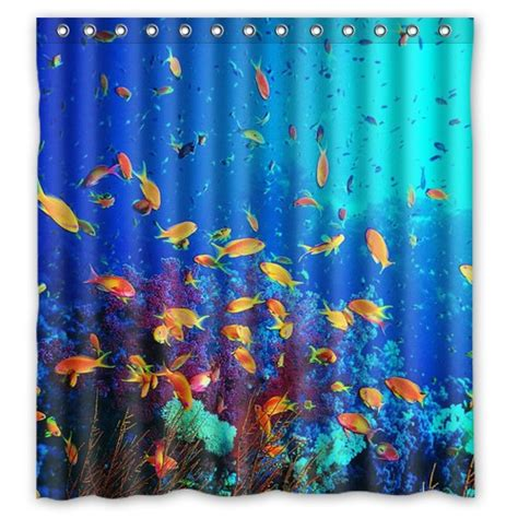 underwater shower curtain 2014 new waterproof bathroom shower curtain wonderful