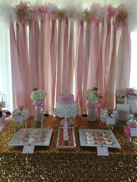 and table shower pink and gold baby shower baby shower ideas baby