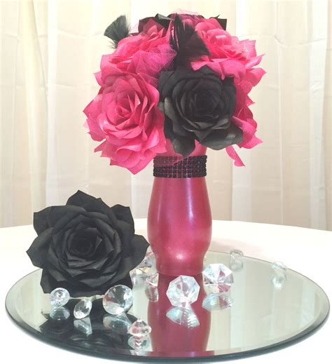 Pink And Black Home Decor Popular Items For Quinceanera Decor On Etsy Pink And