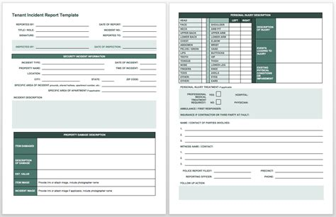 incident report log template high professional templates