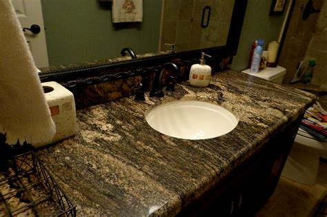 Granite Colors For Bathrooms by Granite Bathroom Countertops Tropical Brown Granite