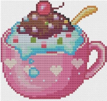 Satisfy Your Sweet Tooth Calorie Free by 95 Best Cup Cakes Images On Cross Stitch