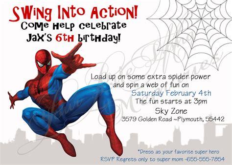 printable birthday card spiderman spiderman birthday invitations free printable spiderman