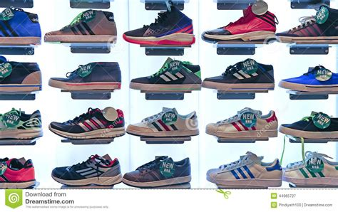 adidas sports shoes store editorial photography image