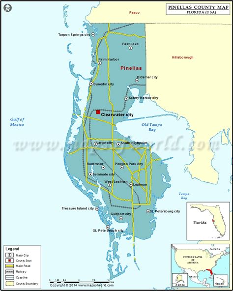 map of florida largo pinellas county map florida