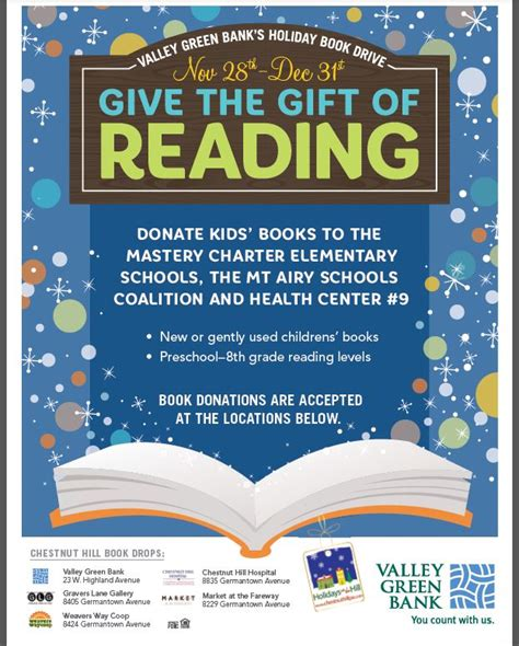 Donate Mba Books by Valley Green Bank S Book Drive The Shops And