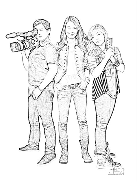 Carly Coloring Pages Icarly Coloring Pages