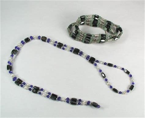 two magnetic hematite necklace bracelets