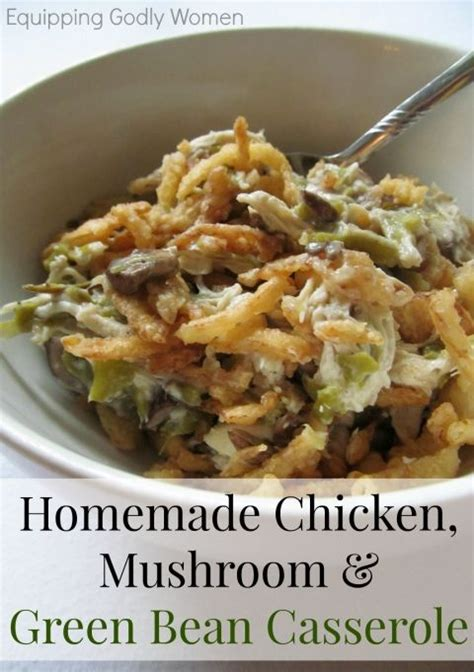 chicken mushroom  green bean casserole recipe