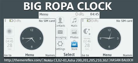 nokia asha 210 themes clock big ropa clock live theme for nokia c3 00 x2 01 asha 200
