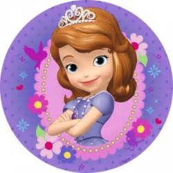 sophi the sofia the purple icing cake topper