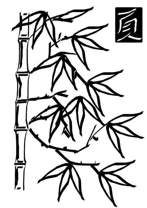 bamboo coloring pages coloring home