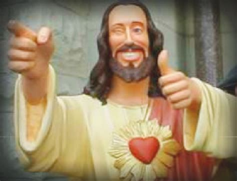 Cool Jesus Meme - buddy christ by everythingsallwrong on deviantart
