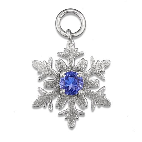 sparkly snowflake silver charm charms direct