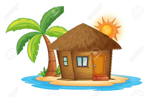 tiki hut drawing hut clipart www imgkid the image kid has it