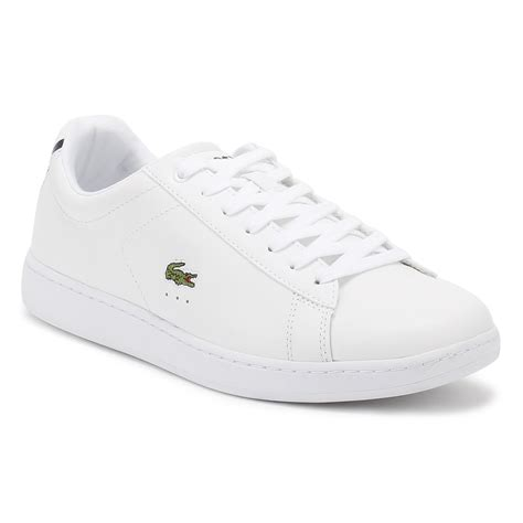 lacoste sports shoes lacoste womens carnaby evo trainers white light grey