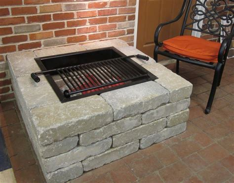 square fire pit kit fire pit design ideas
