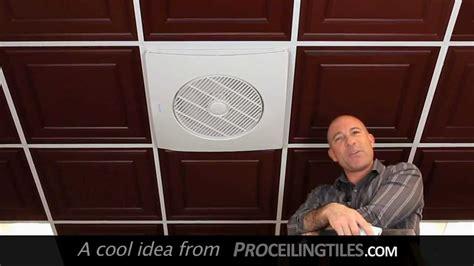 suspended ceiling exhaust fan drop grid ceiling fan youtube