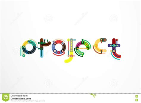 Word Project Project Word Letter Banner Stock Vector Image Of Business