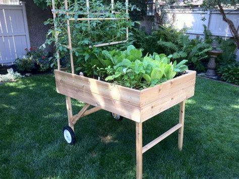 portable garden beds mobile garden portable raised bed planter by gardentogo on