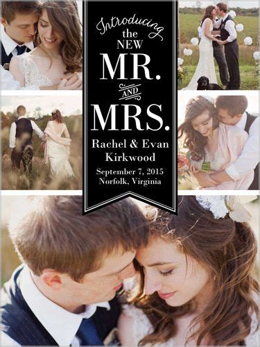 Wedding Announcement In Paper by 1000 Ideas About Wedding Photo Collages On