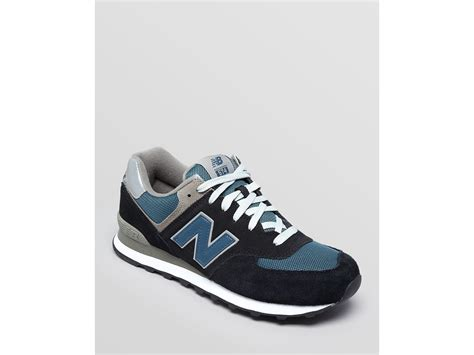 new balance 574 light blue new balance 574 running sneakers in blue for men navy w