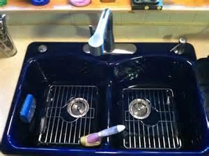 Blue Kitchen Sinks New Kohler Cobalt Blue Kitchen Sink Kitchen Family Room