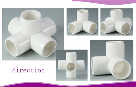 Fitting Pipa Hidroponik cheap white malleable pipe connectors 5 way cross pvc pipe