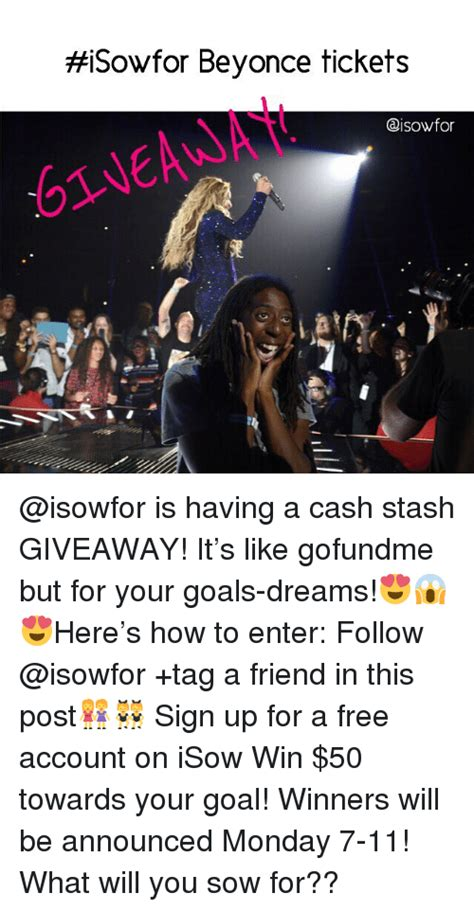 Beyonce Concert Meme - isowfor beyonce tickets is having a cash stash giveaway