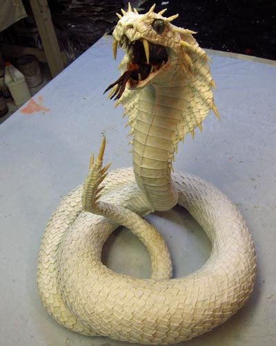 How To Make A Paper Mache Snake - paper mache naga of snakes gourmet