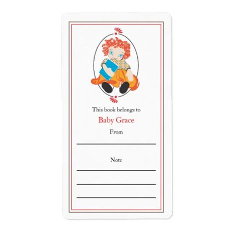 bookplate templates for word doll bookplate shipping label zazzle