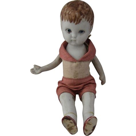 bisque jointed doll german bisque boy doll jointed arms legs original clothes