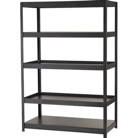 metal shelving walmart edsal rack 5 shelf steel shelving unit black mr482472blb walmart