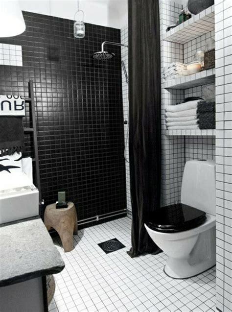Attractive Amenagement Salle De Bain 4m2 #12: Amenagement-petite-salle-de-bain-2m2-carrelage-blanc-noir-amenagement-petite-salle-de-bain.jpg
