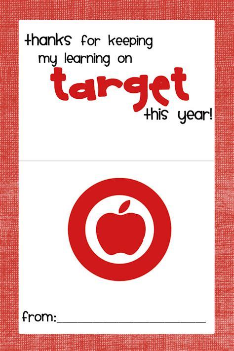 g rated teacher gift target gift card - Printable Gift Cards Target