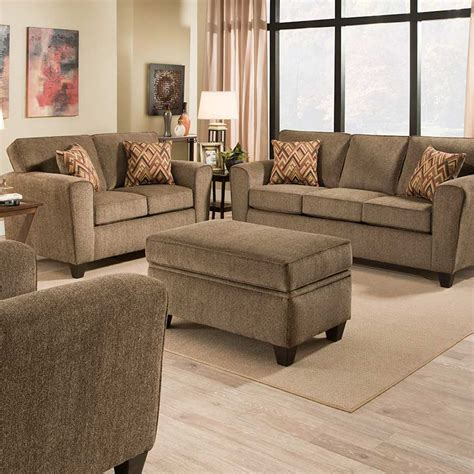 sofa loveseat ottoman set cornell cocoa sofa set the furniture shack discount
