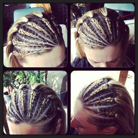 hairstyles with half of head in braids best 25 half cornrows ideas on pinterest side cornrows