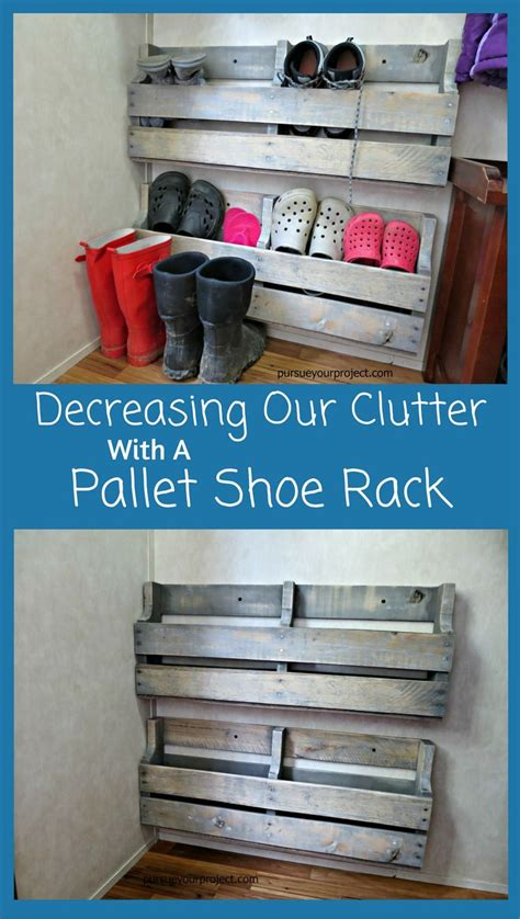 pallet shoe storage decreasing our clutter with a pallet shoe rack shoe rack