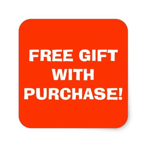 free gifts free gift with purchase sticker zazzle