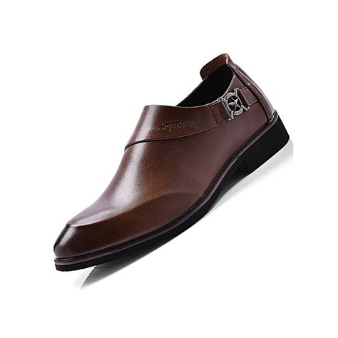 best dress shoe value generic 2018 the new genuine leather formal shoes style loafers slip on brown 43