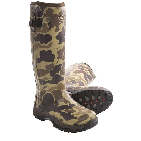 camo boots mens mst side zip camo knee high mudder rubber boots for