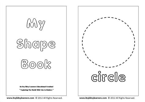 printable shape book templates free shapes coloring book colors and shapes pinterest