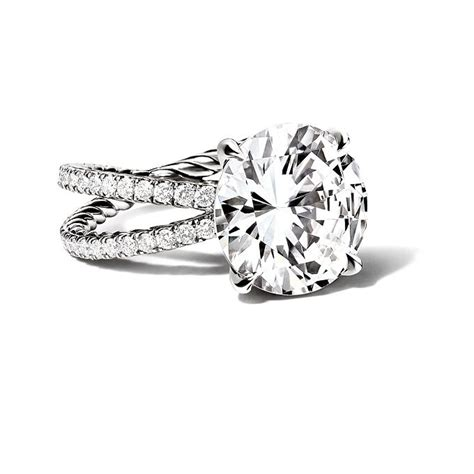 David Yurman   Crossover Engagement Ring with Round Cut