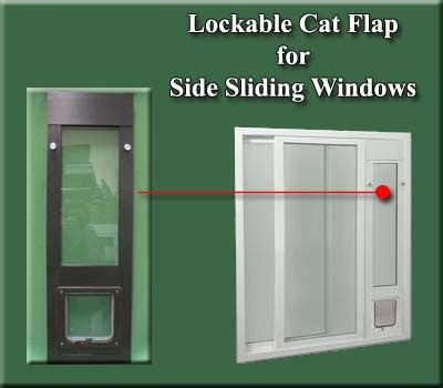 Cat Doors For Windows Decor Ideal Lockable Side Sliding Window For Side Sliding Windows Features A 6 1 4 Quot X 6 1 4 Quot Pet