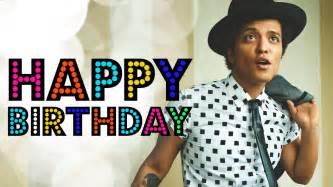 happy birthday bruno mars youtube