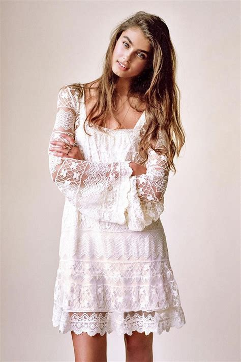 Bell Sleeve Lace Dress 25 wonderful ways to wear all white styles weekly