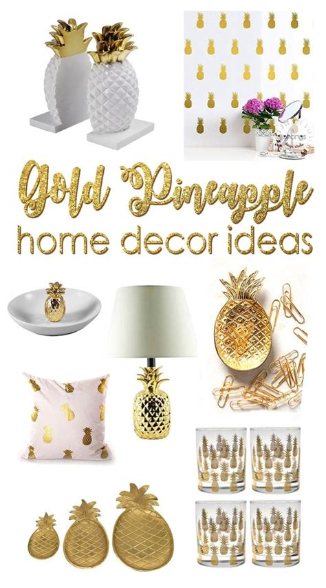 20 beautiful gold pineapples for home decor the six fix