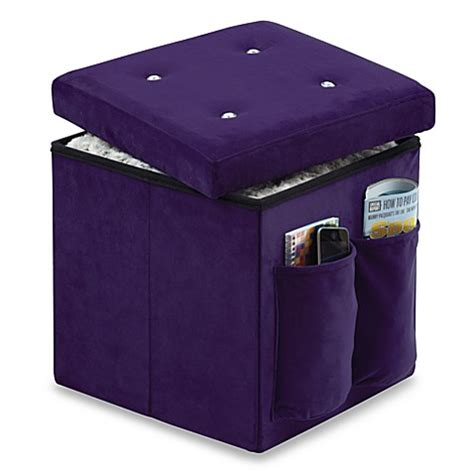 Sit And Store Folding Storage Ottoman In Bling Bed Bath Sit And Store Storage Ottoman