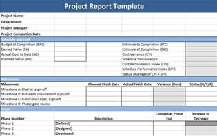 Project Reporting Template Excel by Project Report Template Projectemplates