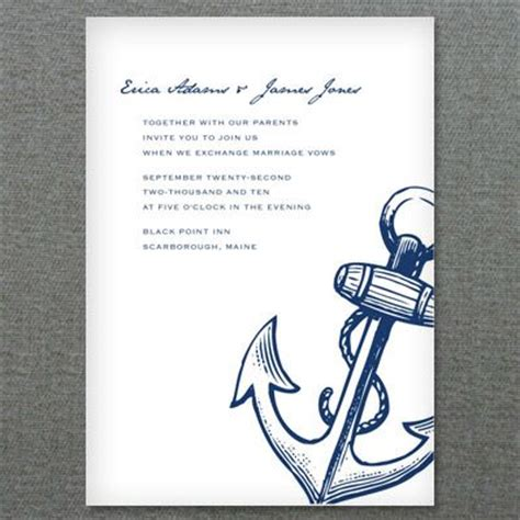 free printable wedding invitations nautical nautical anchor printable invitation template wedding